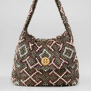 🎉 HP 🎉 Tory Burch Beaded Hobo Bag